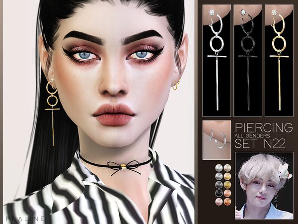 Sims 4 Piercing Set N22 (BTS V) by Pralinesims at TSR