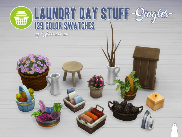 Laundry Day Stuff Separates by Waterwoman at Akisima image 10313 Sims 4 Updates