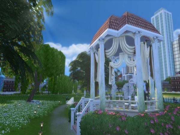 Sims 4 Garden Of Athens Wedding Venue by danieljoshualozano112095 at TSR