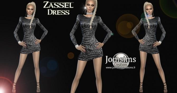 Zassel dress at Jomsims Creations image 1048 670x354 Sims 4 Updates