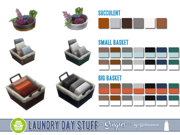 Laundry Day Stuff Separates by Waterwoman at Akisima image 10610 Sims 4 Updates