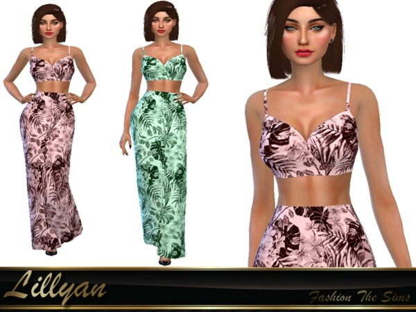 Top and skirt by LYLLYAN at TSR image 108 Sims 4 Updates