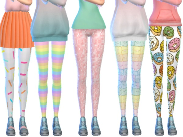 Tumblr Themed Leggings Pack Ten by Wicked Kittie at TSR image 1080 Sims 4 Updates