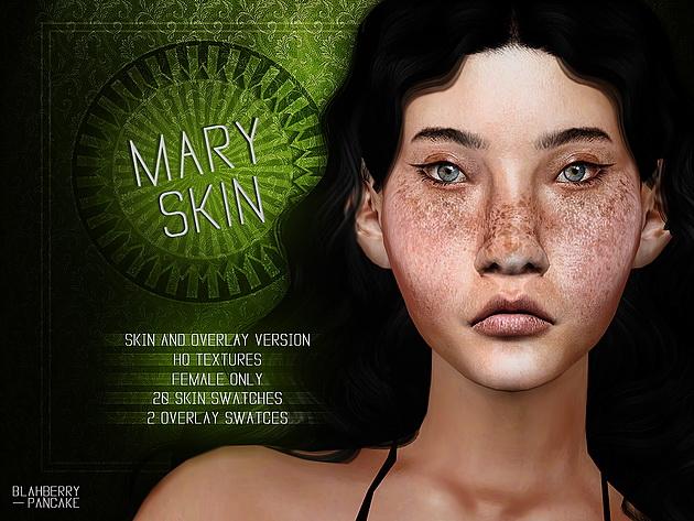 Mary Skin & Overlay at Blahberry Pancake image 1082 Sims 4 Updates