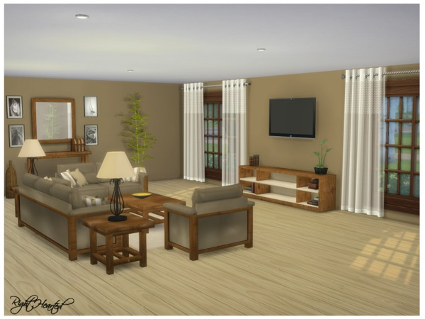 Sims 4 Zia Living Set by RightHearted at TSR