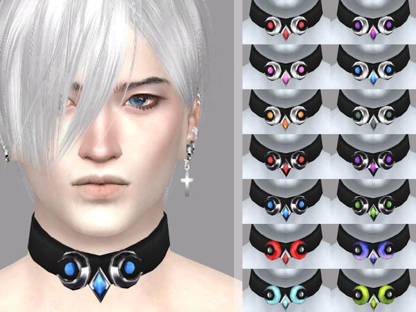 Sims 4 Sorrows desire male choker by WistfulCastle at TSR