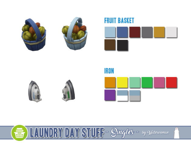 Laundry Day Stuff Separates by Waterwoman at Akisima image 10910 Sims 4 Updates