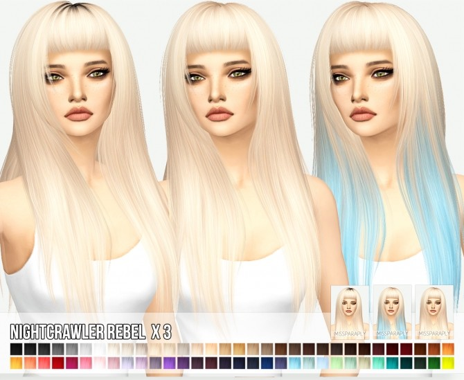 Nightcrawlers Rebel hair X3 at Miss Paraply image 1093 670x549 Sims 4 Updates