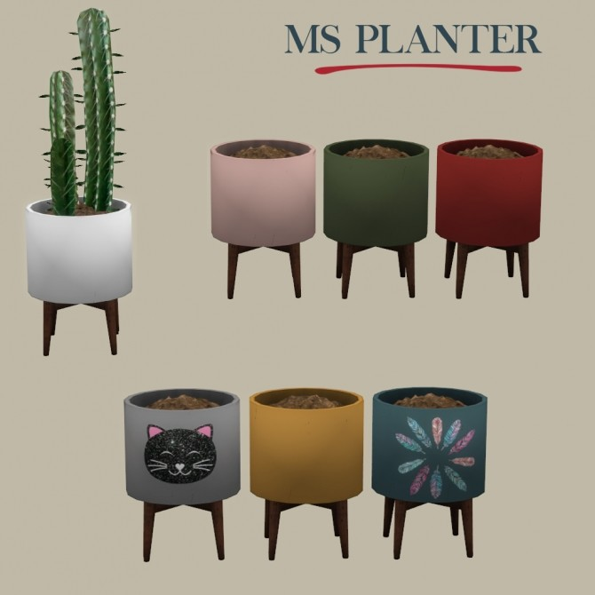 Sims 4 Ms Planter at Leo Sims