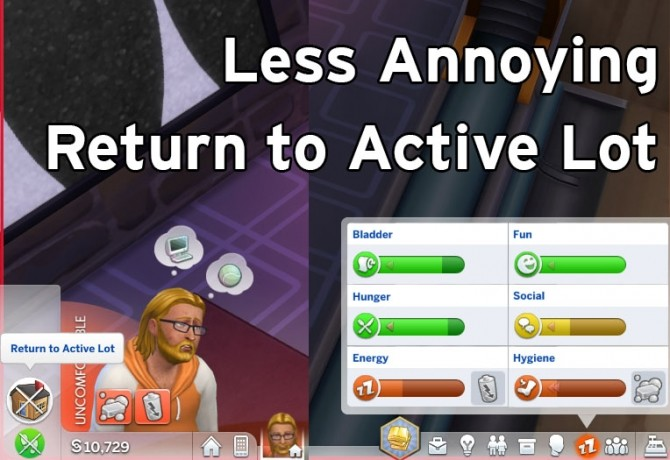Sims 4 Less Annoying Return to Lot by flerb at Mod The Sims