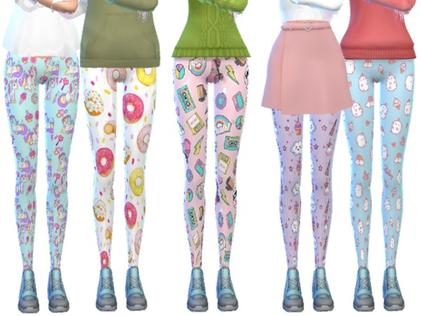 Tumblr Themed Leggings Pack Ten by Wicked Kittie at TSR image 11100 Sims 4 Updates