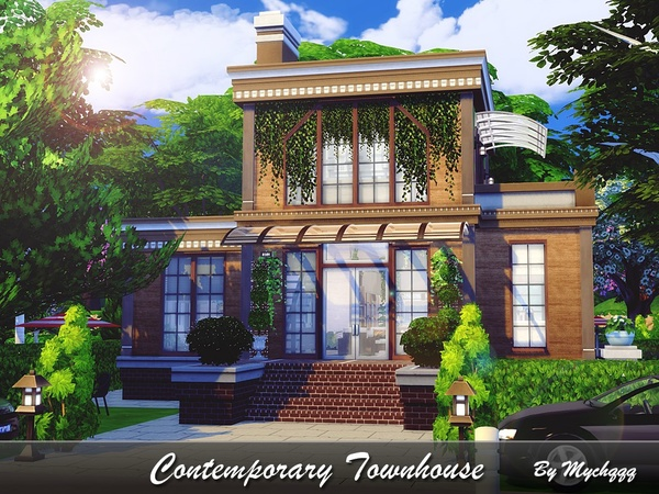 Contemporary Townhouse by MychQQQ at TSR image 11101 Sims 4 Updates