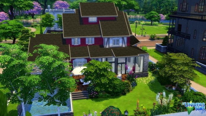 Sims 4 Cocon Chic house by Tom Matthew at L'UniverSims