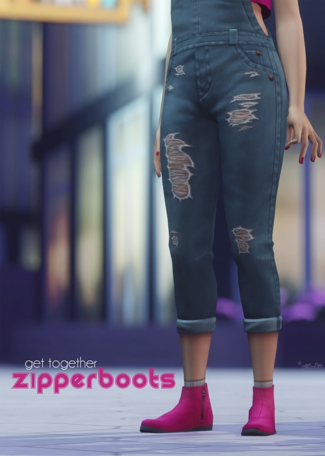Sims 4 ZIPPER BOOTS recolour at Picture Amoebae