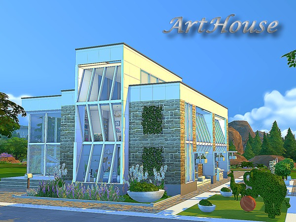 Sims 4 Art Home by Sims House at TSR