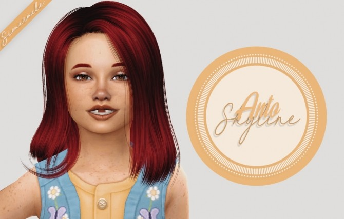 Sims 4 Anto Skyline Hair Kids Version at Simiracle