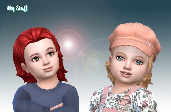 Messy Mid Length Hair for Toddlers at My Stuff image 11610 670x441 Sims 4 Updates