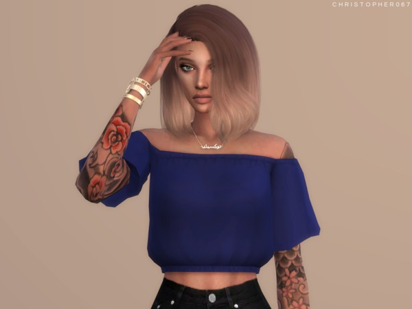 Sims 4 Temptress Top by Christopher067 at TSR