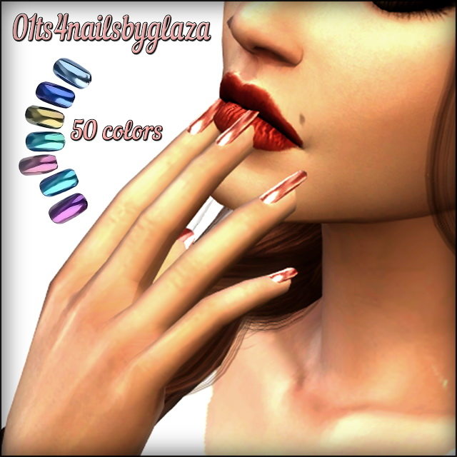 Nails #01 at All by Glaza image 1171 Sims 4 Updates