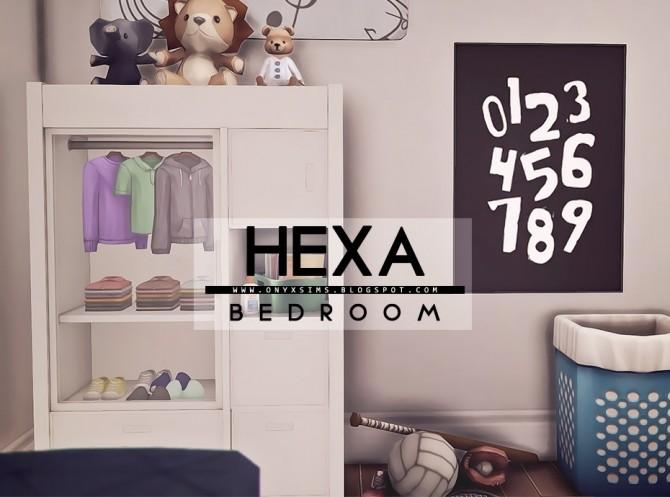 Sims 4 Hexa Bedroom at Onyx Sims