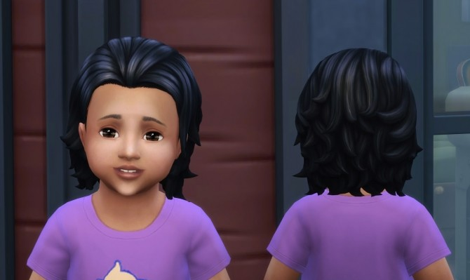 Messy Mid Length Hair for Toddlers at My Stuff image 1179 670x399 Sims 4 Updates
