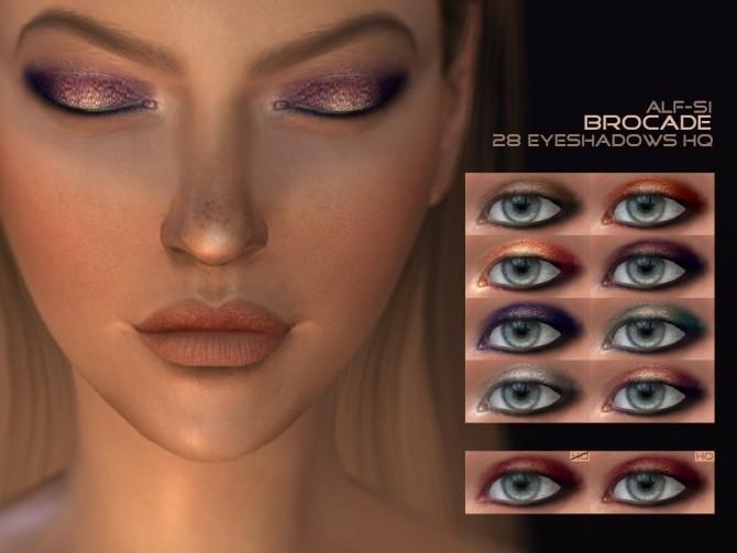 Sims 4 Eyeshadow 05 Brocade HQ at Alf si