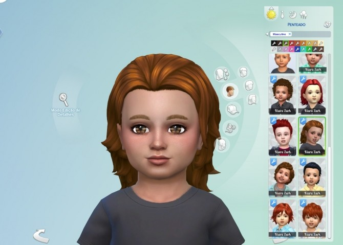 Sims 4 Messy Mid Length Hair for Toddlers at My Stuff