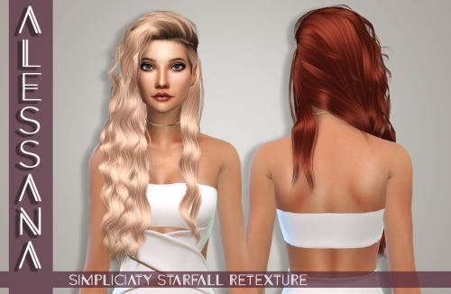 Sims 4 Simpliciaty Starfall Hair Retexture at Alessana Sims