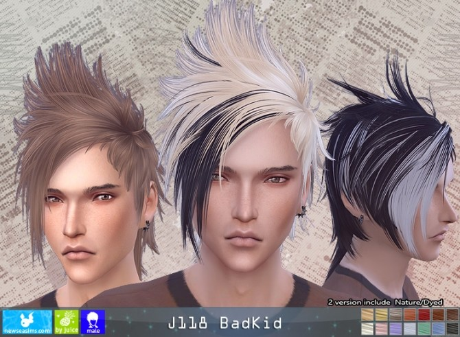 J118 BadKid hair (pay) at Newsea Sims 4 image 1201 670x491 Sims 4 Updates