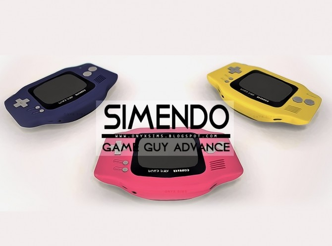 Sims 4 Simendo Game Guy Advance at Onyx Sims