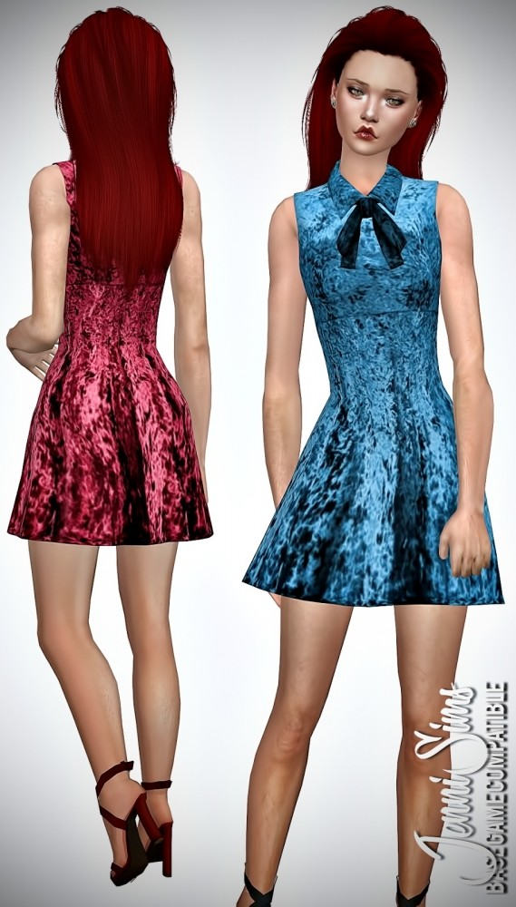 Base Game compatible Dress at Jenni Sims image 1212 569x1000 Sims 4 Updates