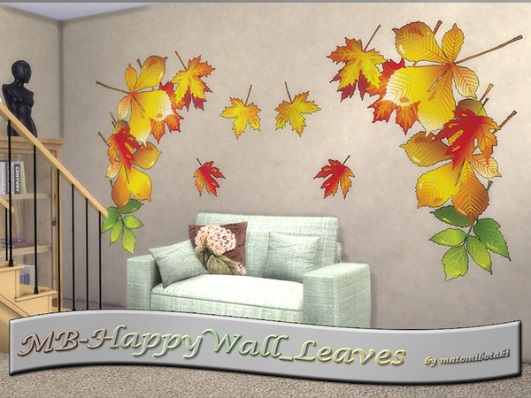 MB Happy Wall Leaves SET by matomibotaki at TSR image 1220 Sims 4 Updates
