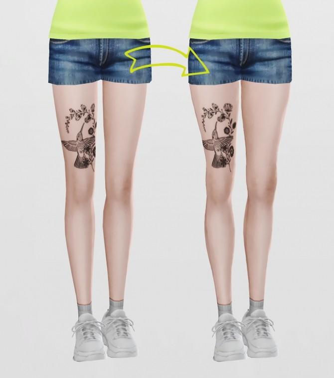 Sims 4 Natural shape default legs at Magic bot