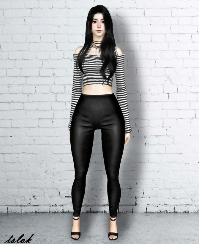 Grease Leather Leggings at TSLOK image 1233 670x822 Sims 4 Updates