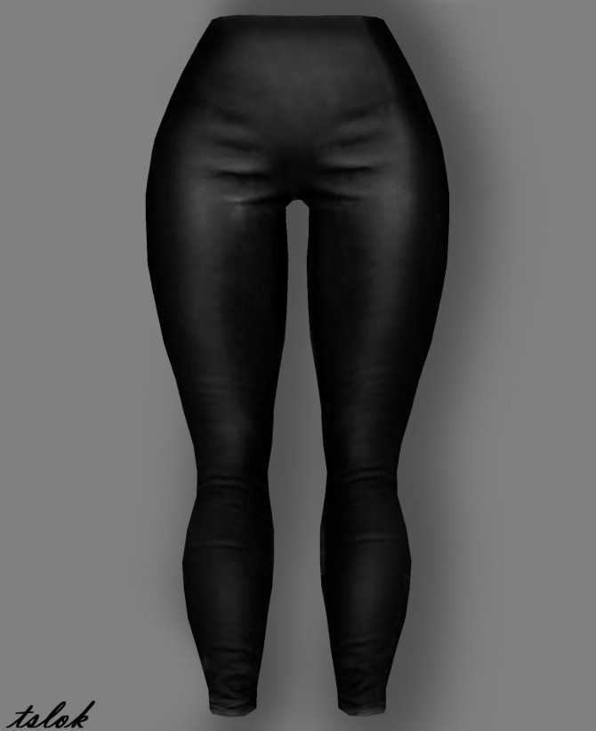 Grease Leather Leggings at TSLOK image 1243 670x822 Sims 4 Updates