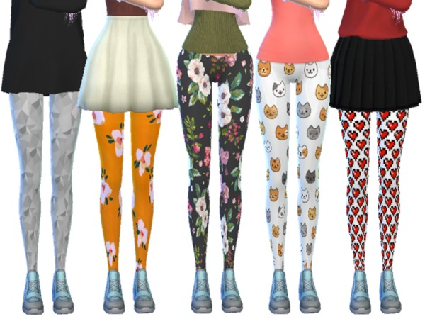 Tumblr Themed Leggings Pack Ten by Wicked Kittie at TSR image 1250 Sims 4 Updates