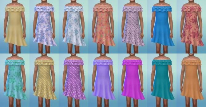 Sims 4 Ruffles Dress at My Stuff