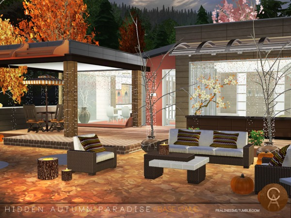 Hidden Autumn Paradise by Pralinesims at TSR image 127 Sims 4 Updates