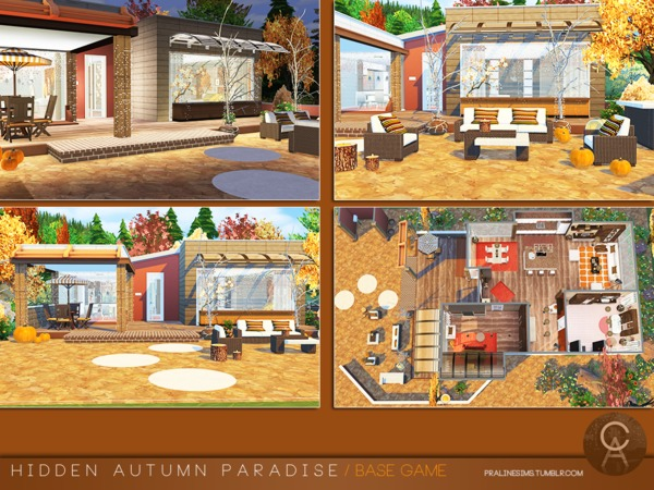 Hidden Autumn Paradise by Pralinesims at TSR image 128 Sims 4 Updates
