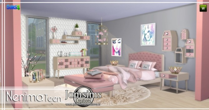 Nenima bedroom at Jomsims Creations image 1291 670x355 Sims 4 Updates