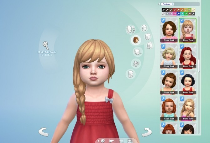Sims 4 Braid Fishtail Side for Toddlers at My Stuff