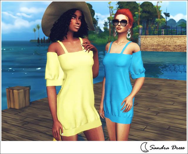 Sims 4 SANDRA DRESS at Blue8white
