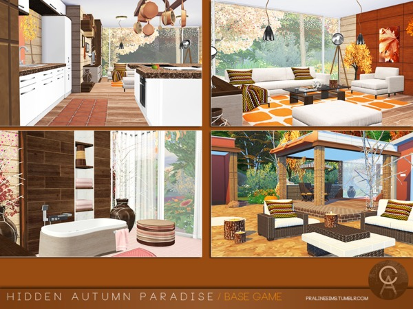 Hidden Autumn Paradise by Pralinesims at TSR image 130 Sims 4 Updates
