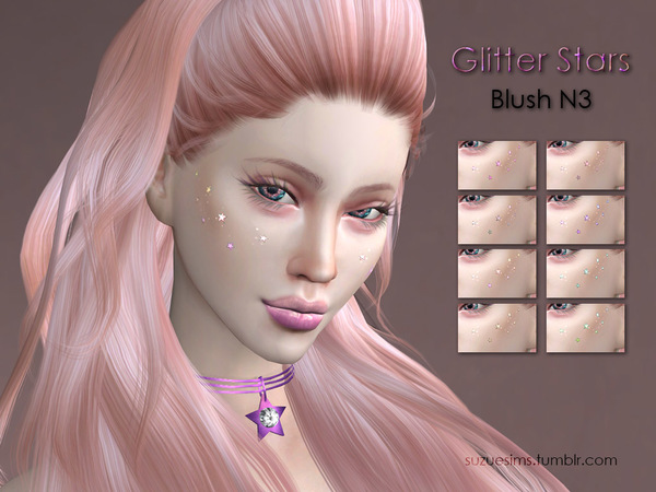 Glitter Stars Blush N3 by Suzue at TSR image 1300 Sims 4 Updates