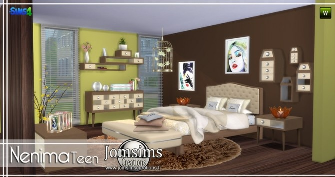 Nenima bedroom at Jomsims Creations image 1312 670x355 Sims 4 Updates