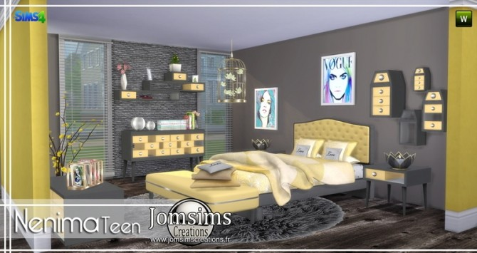 Nenima bedroom at Jomsims Creations image 1321 670x355 Sims 4 Updates