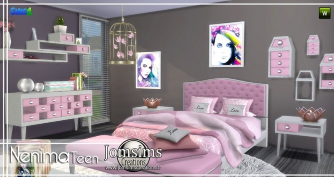 Nenima bedroom at Jomsims Creations image 1331 670x355 Sims 4 Updates