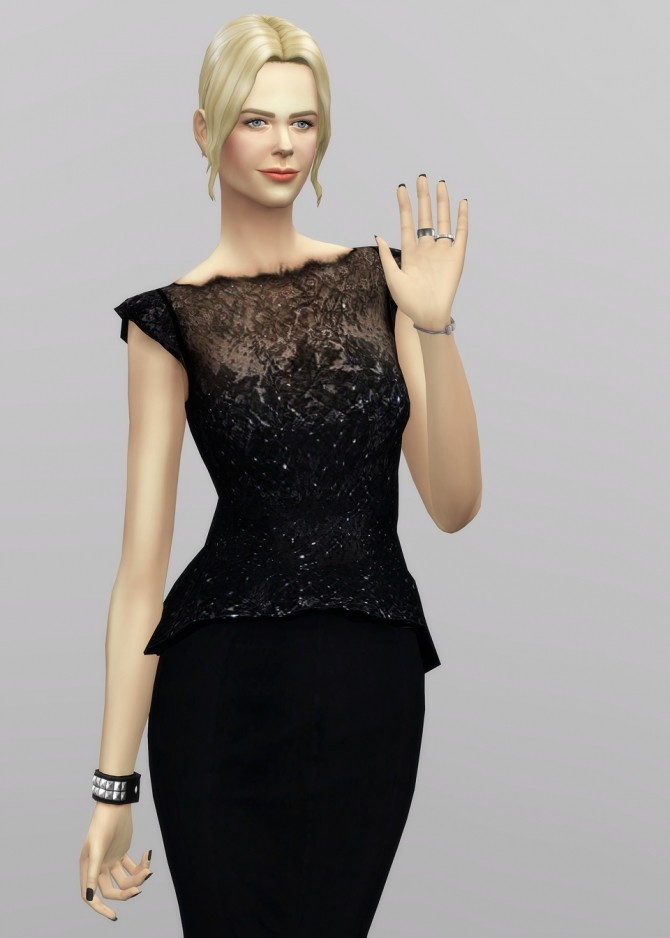 Black dress at Rusty Nail image 1334 670x938 Sims 4 Updates