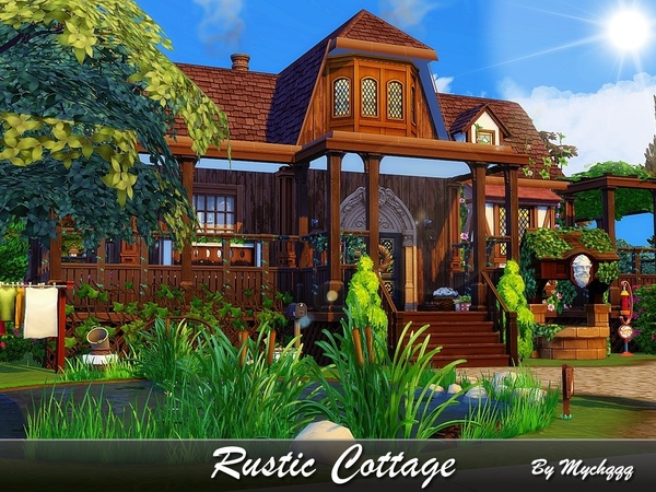 Sims 4 Rustic Cottage by MychQQQ at TSR