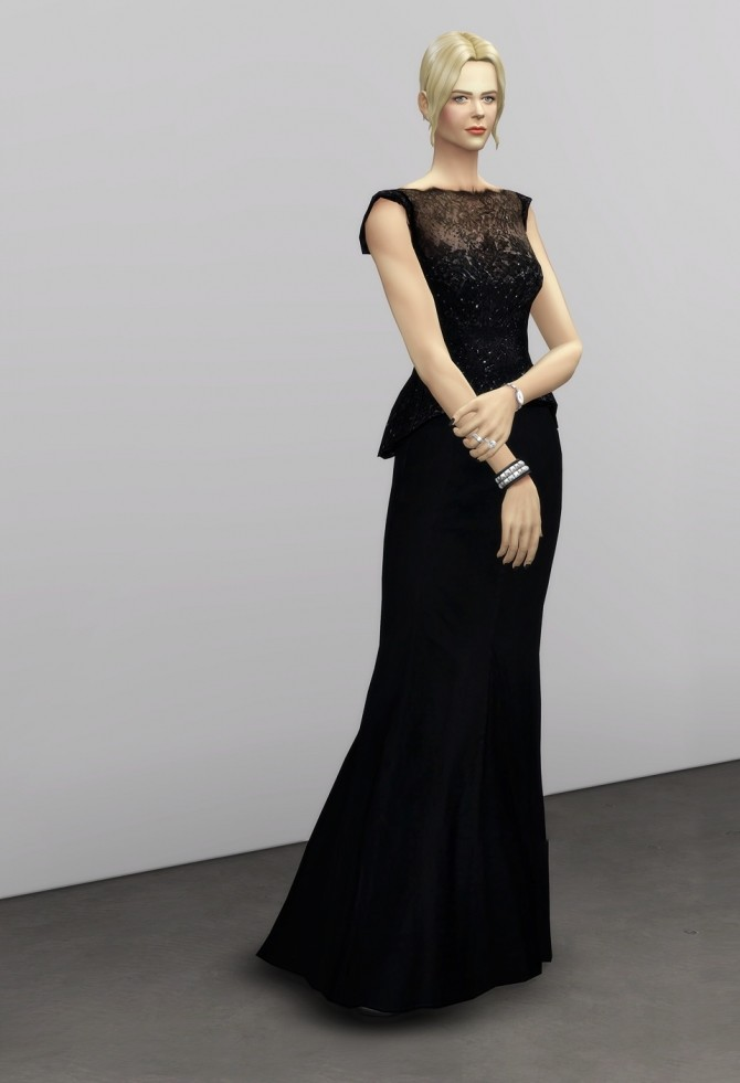 Black dress at Rusty Nail image 1344 670x981 Sims 4 Updates